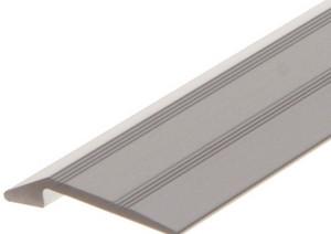 Alu overgangsprofil 2-5 mm m/næb - Mat alu