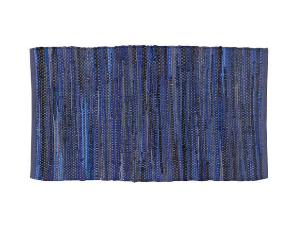 Kludetæppe - 100% Bomuld - Mørk blå
