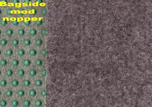 Græstæppe m/nopper - Farve Grå