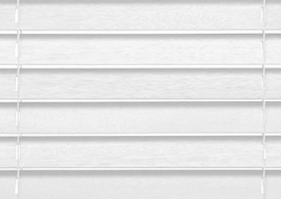 50 mm Træpersienne. Farve: Hvid