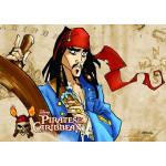 Legetæppe - Pirates of Caribbean - 80 x 120 cm.