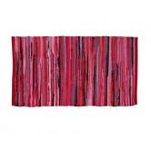 Kludetæppe - 100% Bomuld - Pink / rød