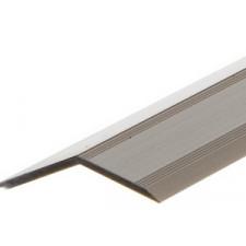 Alu overgangsprofil 14-16 mm m/næb - Mat alu