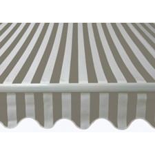 Markise 2,95 x 2,5 meter - Grå og hvid stribet