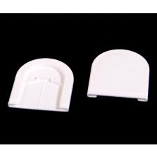 Dækkapper til rullegardin beslag - Hvid