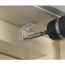 Loft- & vægbeslag til foldegardiner med kædetræk