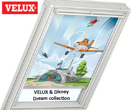 VELUX & Disney Dream collection - VELUX Mørklægningsgardiner