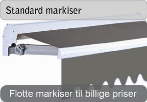 Standard markiser med eller uden motor
