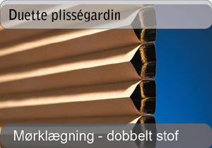 Duette plissegardiner - Mørklægning