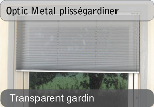 Optic Metal plissegardiner - Transparent