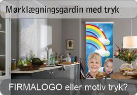 Mørklægningsgardin med LOGO eller FOTO tryk
