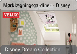 VELUX mørklægningsgardiner - Disney & goodnight collection